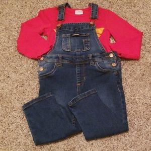 2T girl overalls
